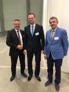 Od lewej: Prezes SSEMP S.A. Tadeusz Rycharski, Wicewojewoda Dolnośląski Kamil Krzysztof Zieliński, Burmistrz Miasta Piechowice Witold Rudolf