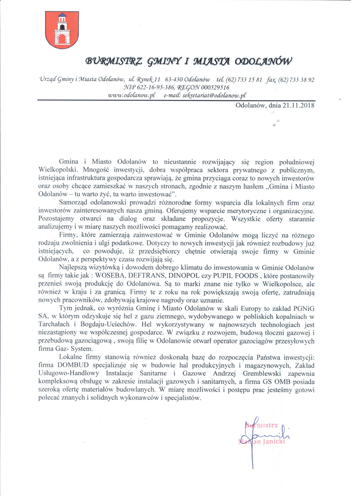 List-Burmistrza